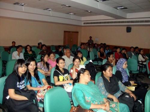 Jamians enjoying the film being screened