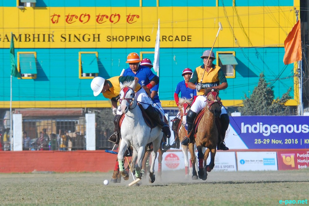Day 7 : 9th Manipur Polo International : India Vs Australia   at Mapal Kangjeibung, Imphal :: November 27 2015