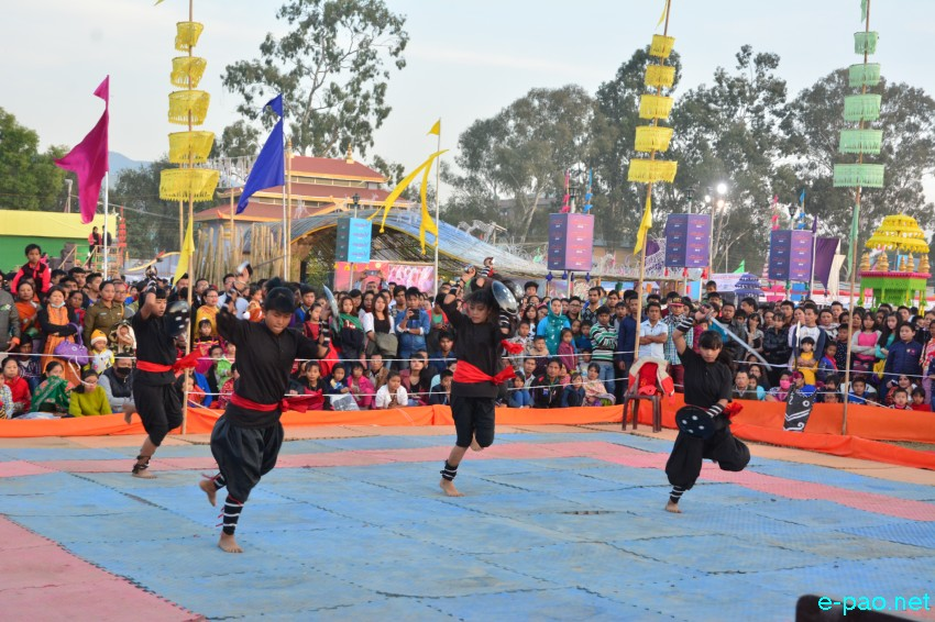 Day 9 : Thang - Ta performance as part of Manipur Sangai Festival at Hatta Kangjeibung :: November 29 2015