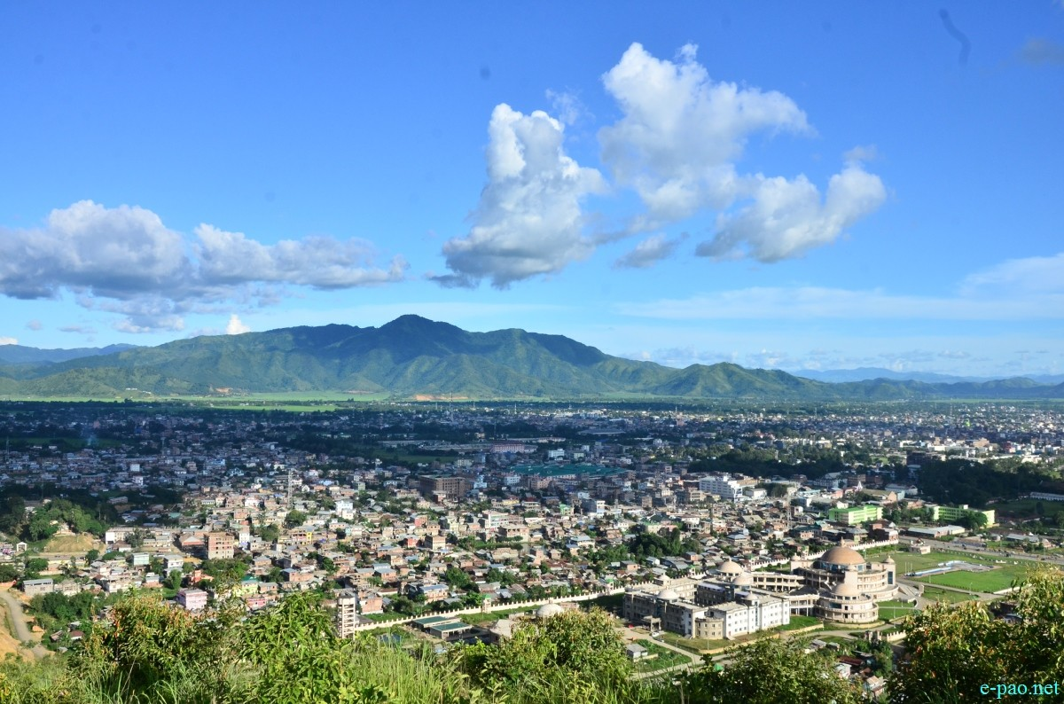Bird eye view of Imphal Valley as seen from top of Cheiraoching :: August 29 2014