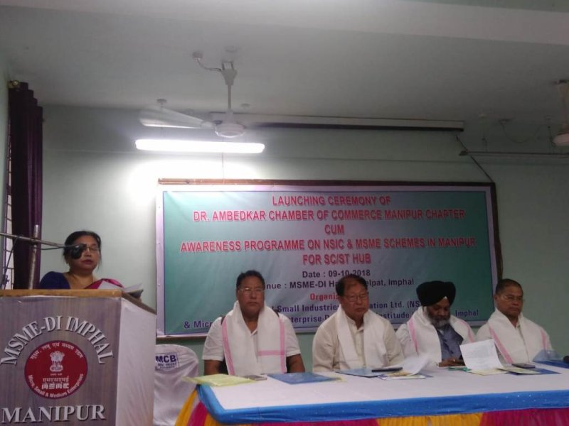 Dr Ambedkar Chamber of Commerce Manipur Chapter launched in Imphal