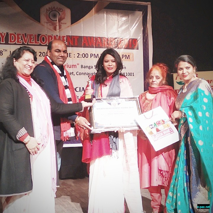 Oinam Shilla Chanu conferred 'The Society Development Award 2019