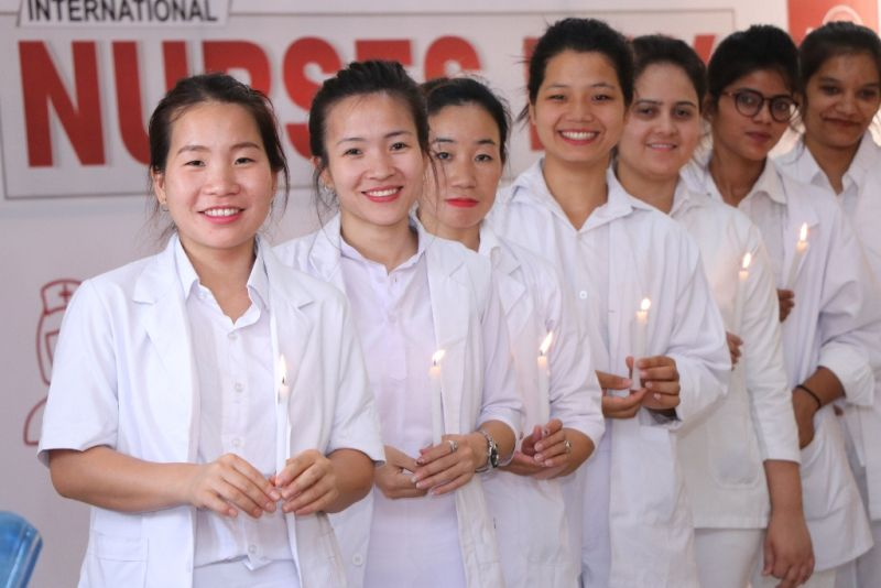 Aryans Institute of Nursing celebrates International Nurses Day