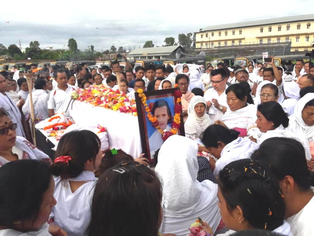 Thousands mourn as mortal remains of Babysana cremated