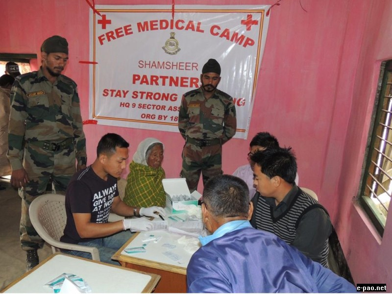 AR provides medical assistance  at Changganggai