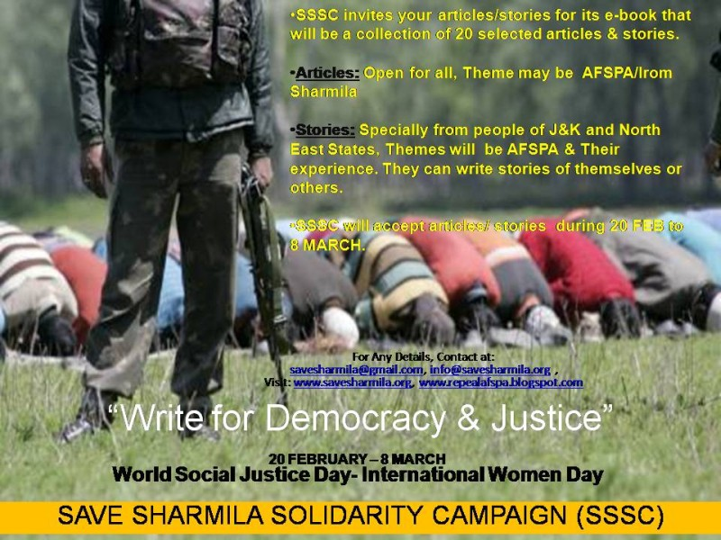 Write For Democracy and Justice :  Save Sharmila Solidarity Campaign