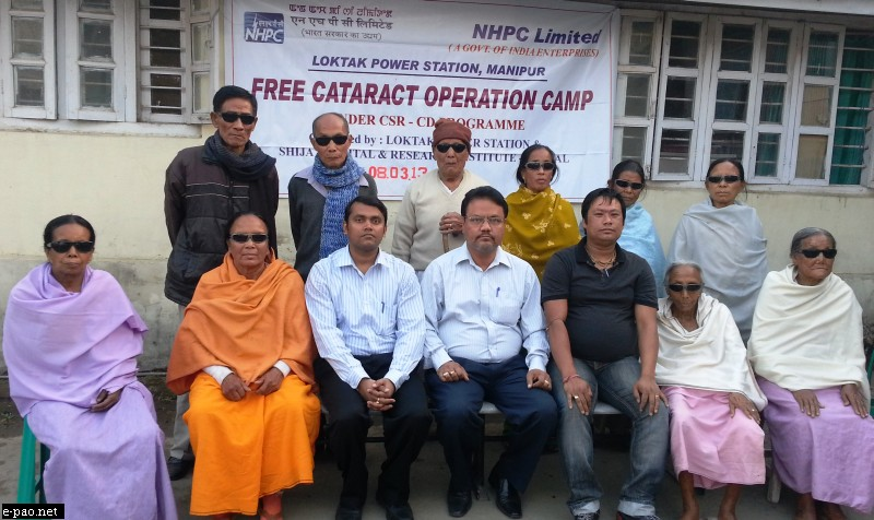 Free Cataract Operation at Imphal organized by Loktak Power Station