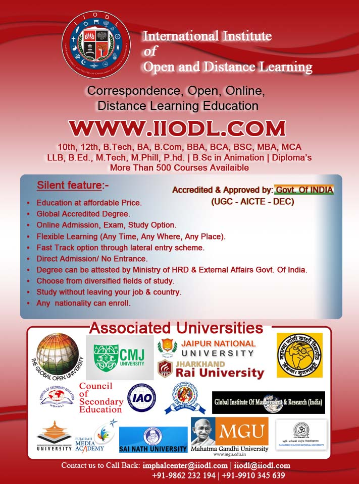 International Institute of Open and Distance and Learning (IIODL) in Manipur