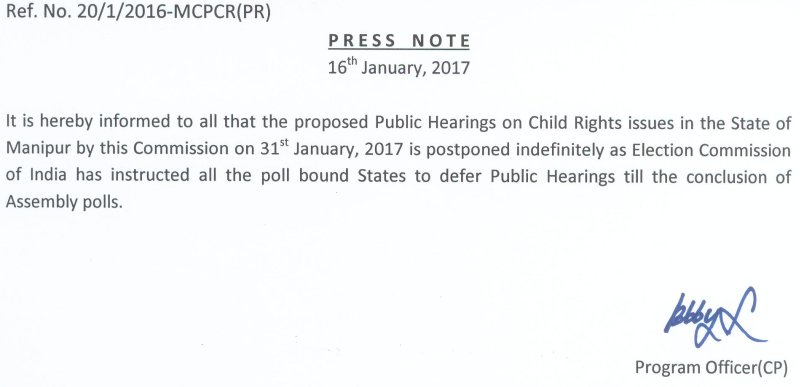 One day public hearing on violation of Child Rights