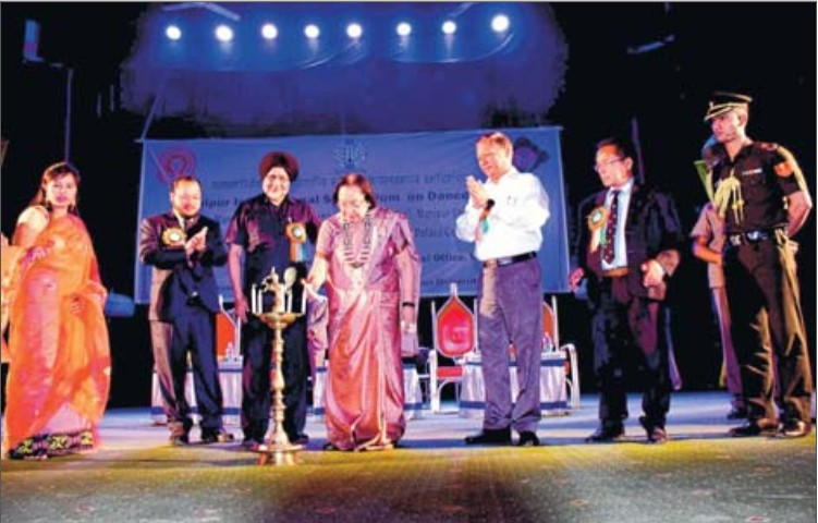 Dr. Najma Heptulla, Governor of Manipur at the inaugural function of the Manipur International Symposium on Dance & Music On 28th March, 2019 At Manipur University, Canchipur, Imphal